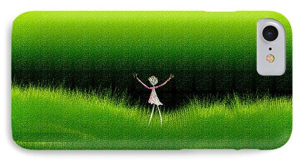 Green Field IPhone Case