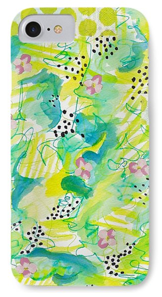Green Floral Abstract IPhone Case