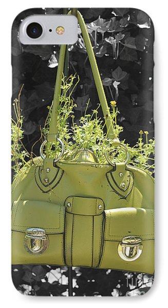 Green Flower Bag IPhone Case