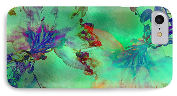 Green Hibiscus Mural Wall IPhone Case