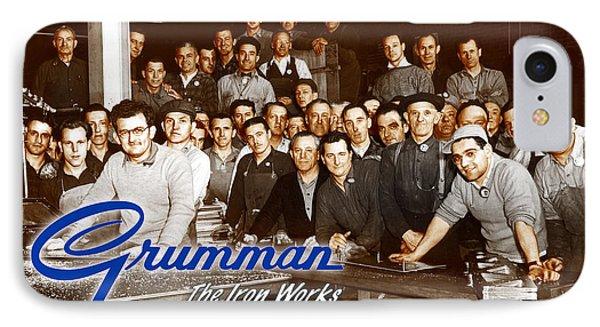 Grumman Iron Works Shop Workers IPhone Case