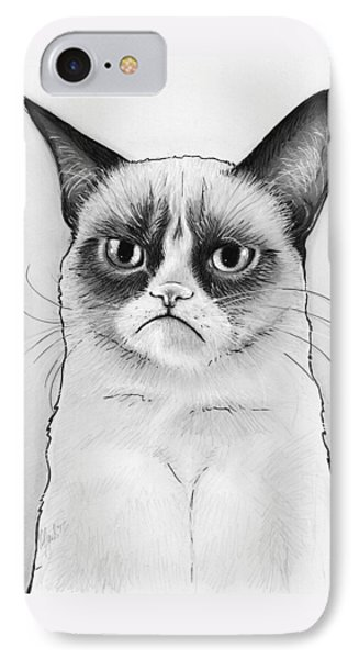 Grumpy Cat Portrait IPhone Case