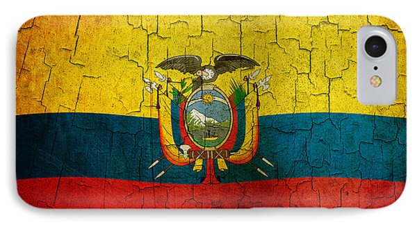 Grunge Ecuador Flag IPhone Case