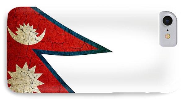 Grunge Nepal Flag IPhone Case