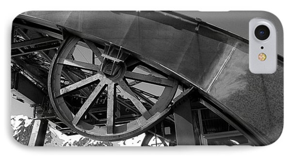Guide Wheel Of An Old Cablecar In France IPhone Case