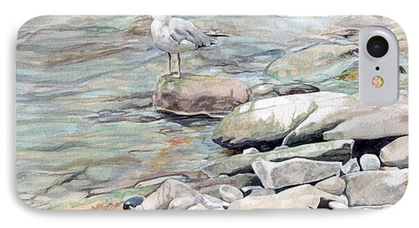 Gull On The Rocks IPhone Case