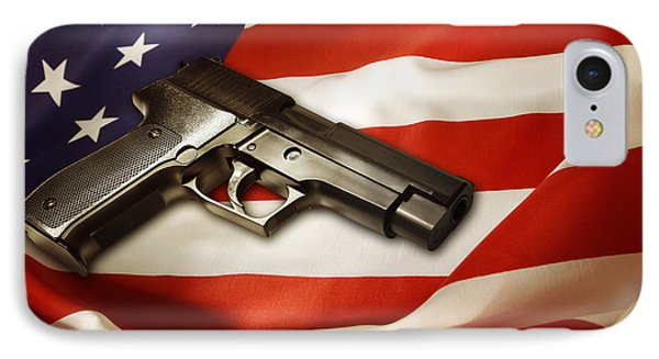 Gun On Flag IPhone Case