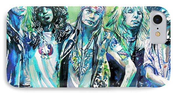 Guns N' Roses - Watercolor Portrait IPhone Case