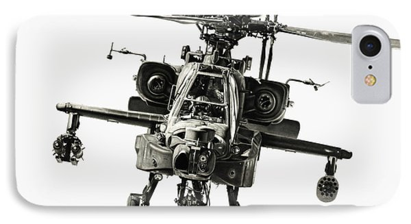 Helicopter iPhone 8 Case - Gunship by Murray Jones