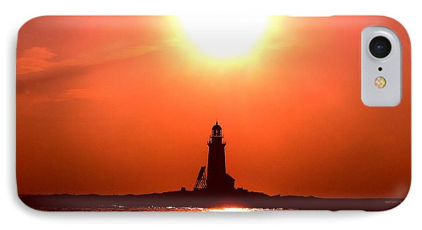 Halfway Rock Lighthouse IPhone Case