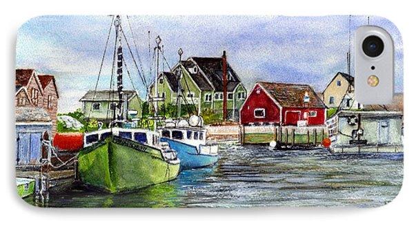 Peggys Cove Nova Scotia Watercolor IPhone Case