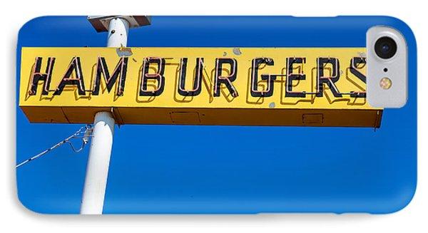 Hamburgers Old Neon Sign IPhone Case