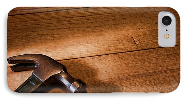 Hammer On Wood IPhone Case