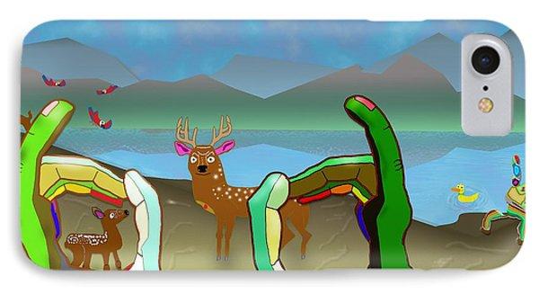 Hands And Deer IPhone Case
