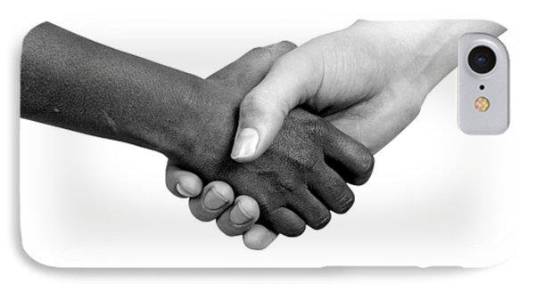 Handshake Black And White IPhone Case