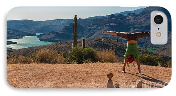 Handstand At Apache Lake IPhone Case
