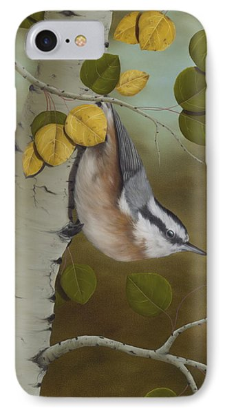 Print iPhone 8 Case - Hanging Around-red Breasted Nuthatch by Rick Bainbridge