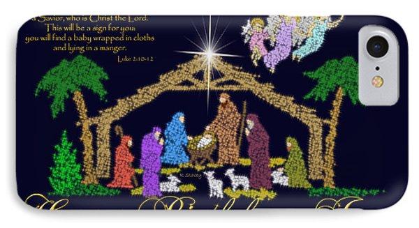 Happy Birthday Jesus Nativity IPhone Case