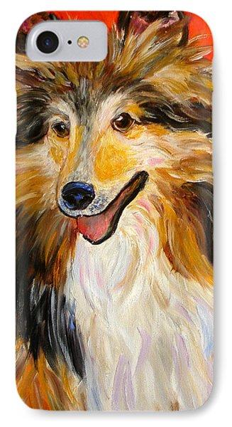 Happy Dog  --  Sheltie IPhone Case