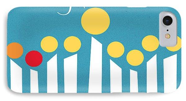 Happy Hanukkah Menorah Card IPhone Case