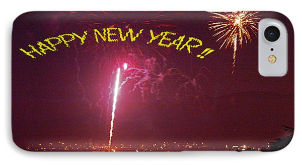 happy New Year fireworks IPhone Case