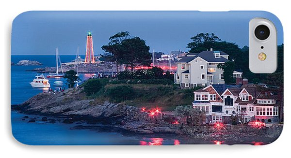 Marblehead Harbor Illumination IPhone Case