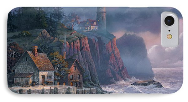 Scenic iPhone 8 Case - Harbor Light Hideaway by Michael Humphries