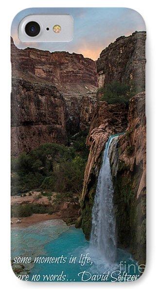Havasu Falls With Quote IPhone Case