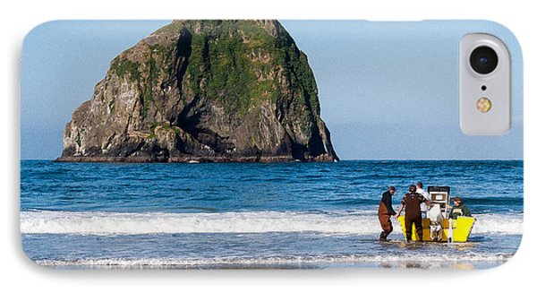 Haystack Rock And Dory Fishermen IPhone Case