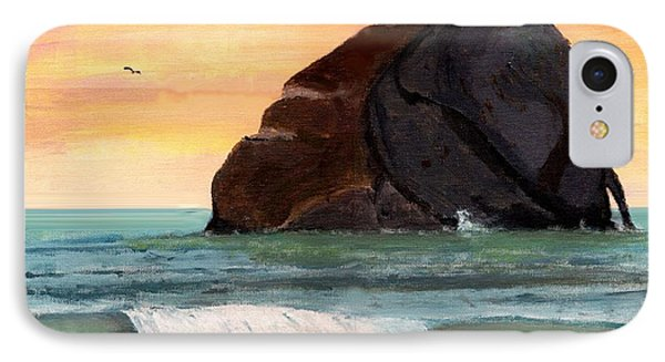Haystack Rock At Kiwanda IPhone Case