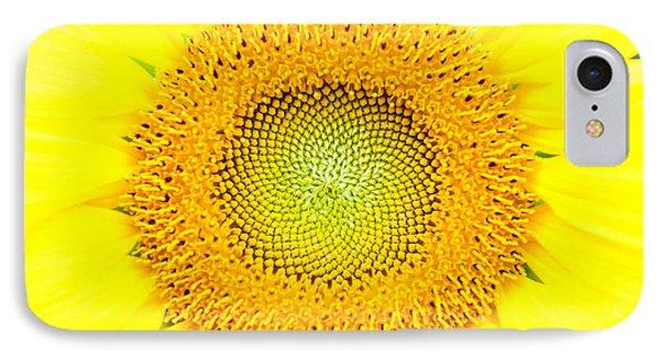 Heart Of A Sunflower IPhone Case