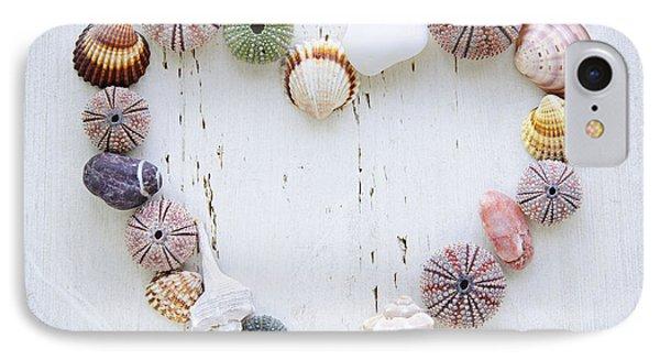 Heart Of Seashells And Rocks IPhone Case