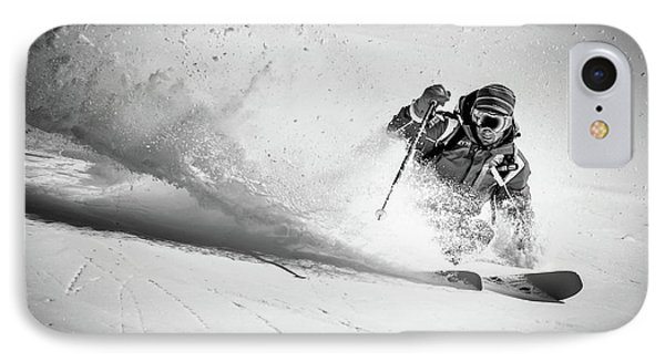 French iPhone 8 Case - Henri Making A Powder Turn... by Eric Verbiest