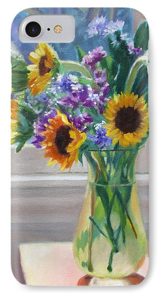 Here Comes The Sun- Sunflowers By The Window IPhone Case