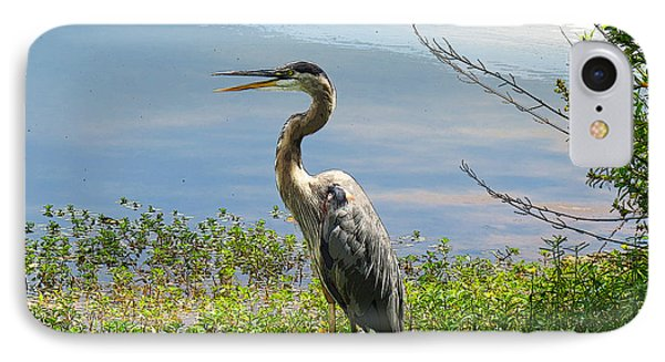 Heron On Lake IPhone Case