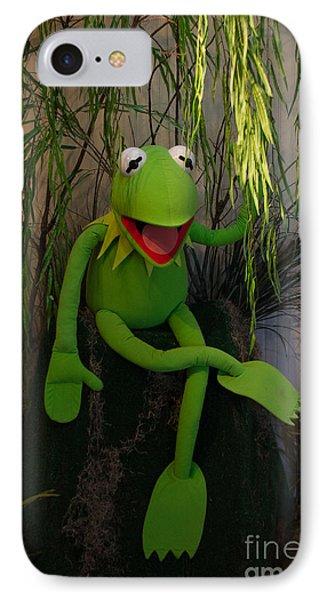 Hi Ho  Kermit The Frog Here  IPhone Case