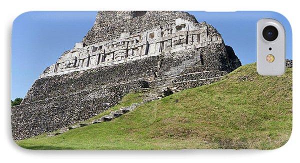 Belize iPhone 8 Case - Hieroglyphs On A Wall Facade Of El by William Sutton