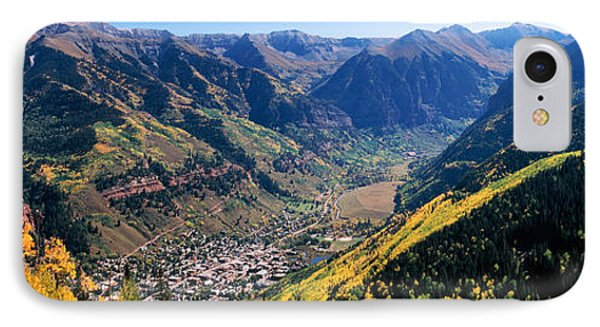 High Angle View Of A Valley, Telluride IPhone Case