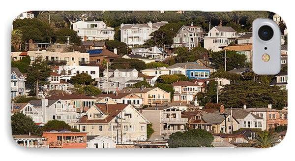 High Angle View Of Houses In A Town IPhone Case