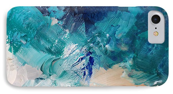 High As A Mountain- Contemporary Abstract Painting IPhone Case