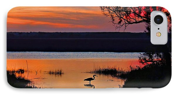 High Tide Heron IPhone Case