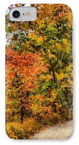 Hiking In Autumn IPhone Case