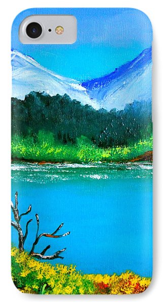 Hills By The Lake IPhone Case