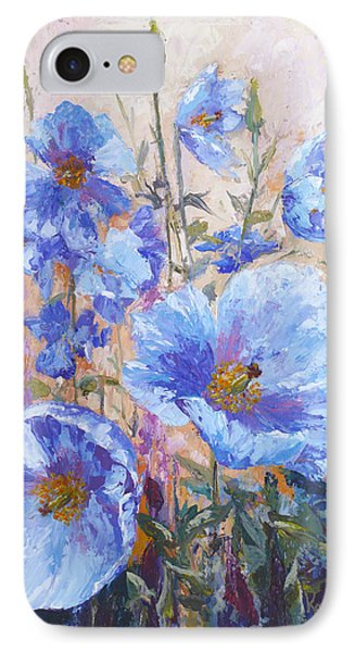 Himalayan Blue Poppies IPhone Case