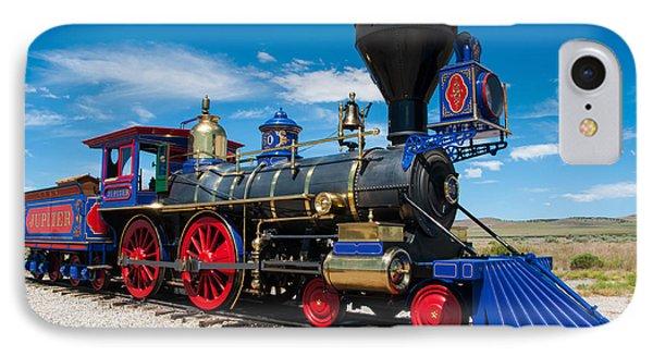 Historic Jupiter Steam Locomotive - Promontory Point IPhone Case