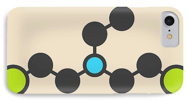 Mustard iPhone 8 Case - Hn1 Nitrogen Mustard Molecule by Molekuul