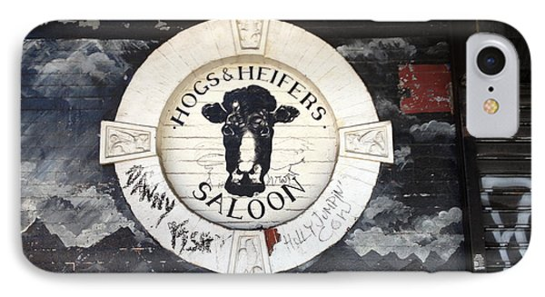 Hogs And Heifers Saloon Sign New York IPhone Case