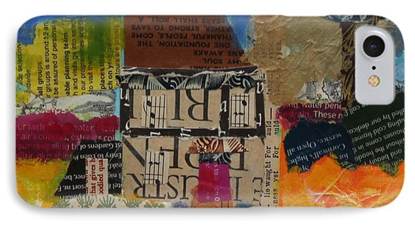 Holiday Home 2013, Acrylicpaper Collage IPhone Case