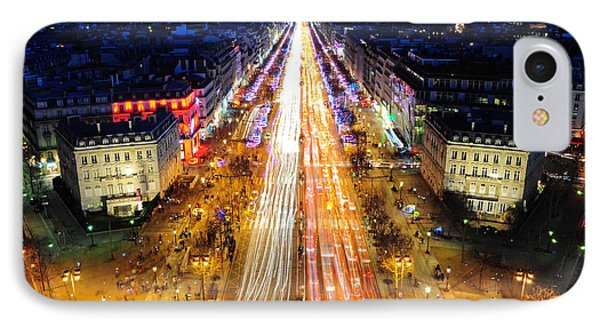 Holiday Lights On The Champs-elysees IPhone Case