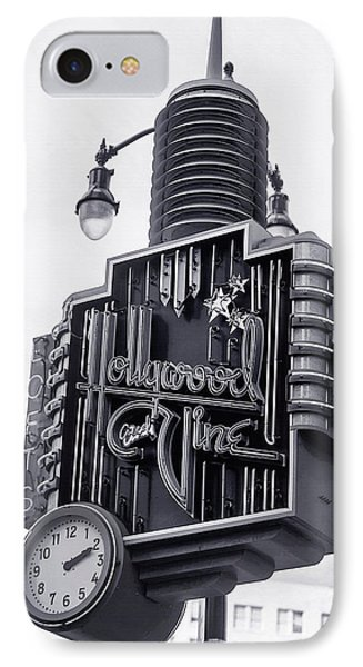 Hollywood Landmarks - Hollywood And Vine Sign IPhone Case